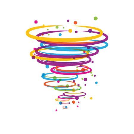 Conception d'illustration de vecteur de symbole de logo de tornade Logo