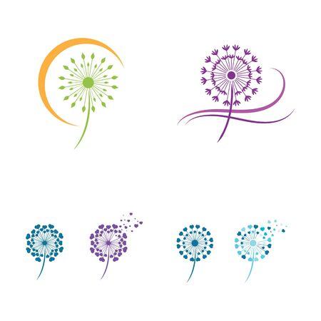Dandelion vector icon design template