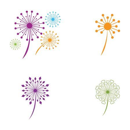 Dandelion vector icon design template Stok Fotoğraf - 129244294