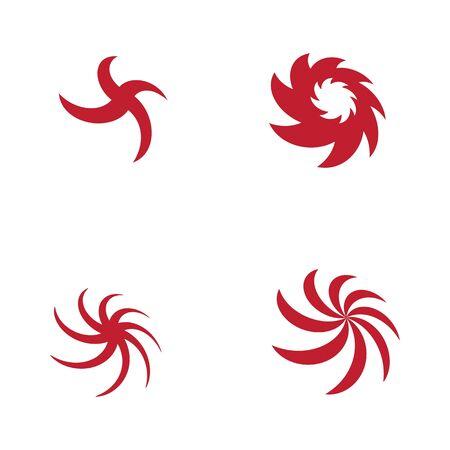 vortex vector illustration icon Logo Template design Zdjęcie Seryjne - 129244295