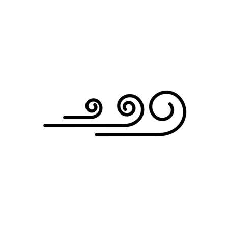 Wind vector icon design illustration template