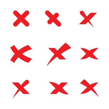 X Letter Logo Template vector icon illustration design Çizim