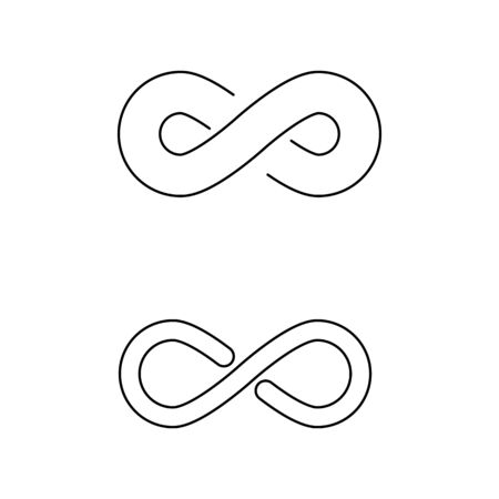 Infinity Design Vector icon illustration Logo template design  イラスト・ベクター素材
