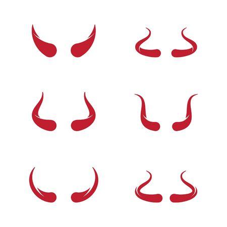 Devil horn Vector icon design illustration Template 向量圖像
