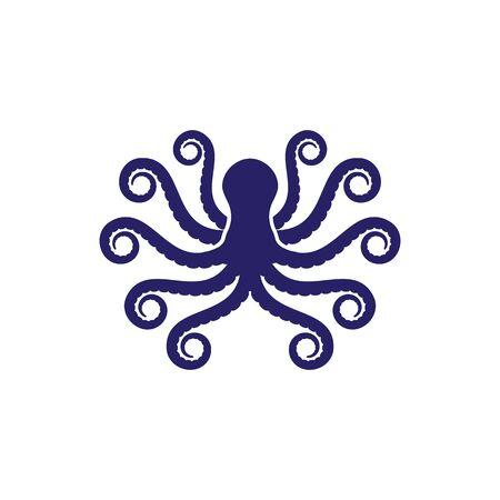 octopus icon Vector Illustration design template  イラスト・ベクター素材