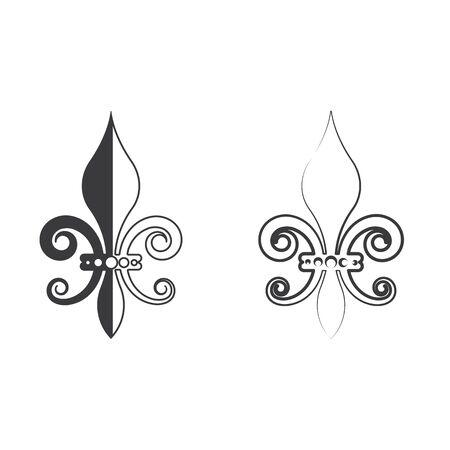 Fleur de lis vector icon design template