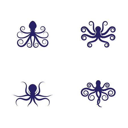 octopus icon Vector Illustration design template Ilustração