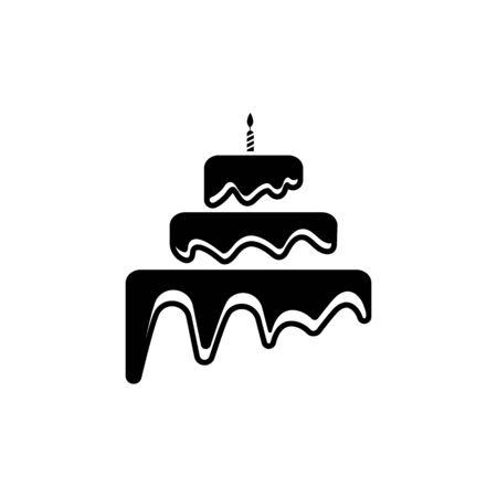 Modello di progettazione dell'illustrazione di vettore dell'icona del segno della torta Vettoriali