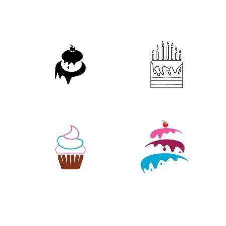 Cake sign icon vector illustration design template Stock fotó - 129706840
