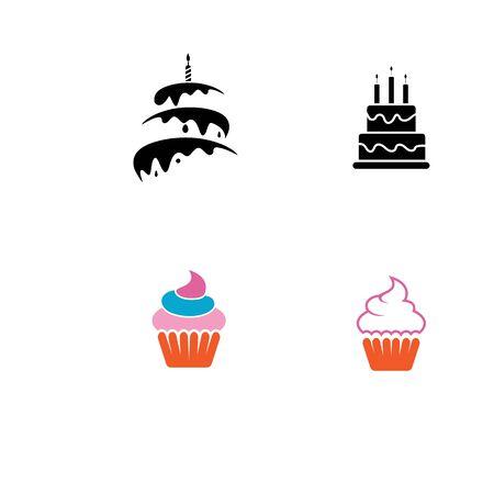 Cake sign icon vector illustration design template Illusztráció