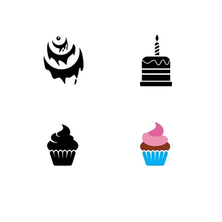 Cake sign icon vector illustration design template Stock fotó - 129706842