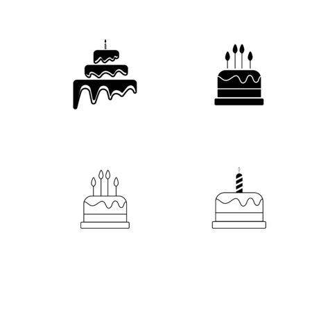 Cake sign icon vector illustration design template Stock fotó - 129706844