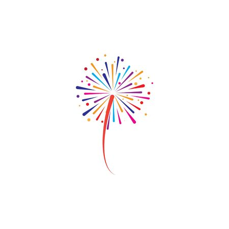 fire work icon Vector Illustration design Logo template Stock Vector - 129706848