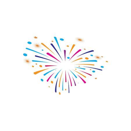 fire work icon Vector Illustration design Logo template Stock Vector - 129706851