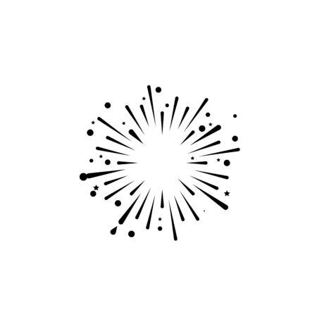 fire work icon Vector Illustration design Logo template Stock Vector - 129706876