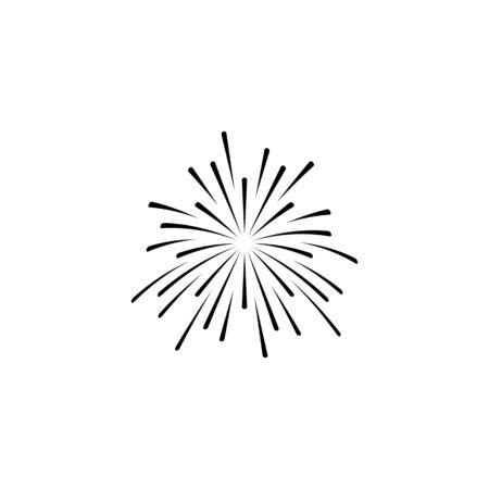 fire work icon Vector Illustration design Logo template Stock Vector - 129706877