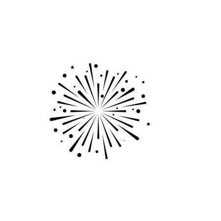 fire work icon Vector Illustration design Logo template Stock Vector - 129706880