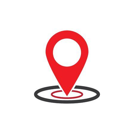 location icon Vector Illustration design Logo template Çizim