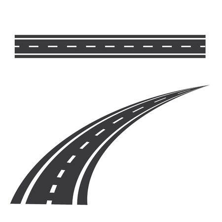 way icon Vector Illustration design Logo template