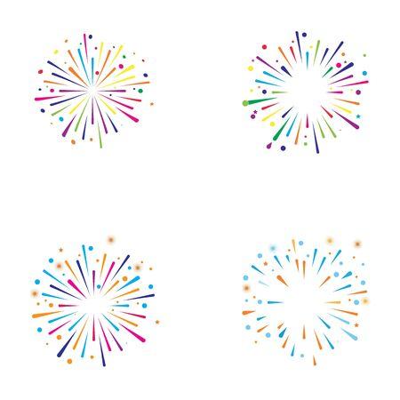 fire work icon Vector Illustration design Logo template Stock Vector - 129707108