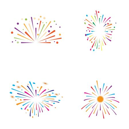 fire work icon Vector Illustration design Logo template Stock Vector - 129707109