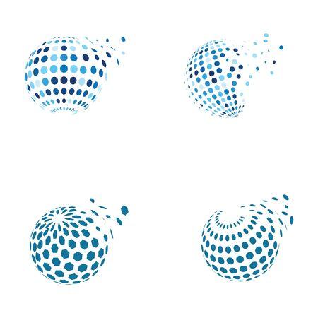Wire World Logo Template vector illustration