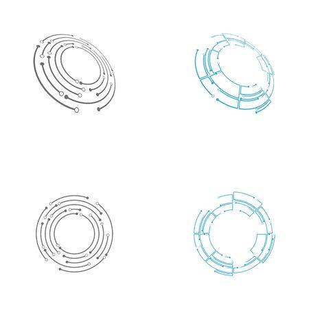 Circuit icon Template vector illustration design Ilustração Vetorial