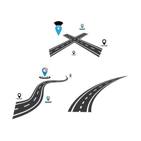 way icon Vector Illustration design Logo template Illustration