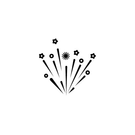fire work icon Vector Illustration design Logo template