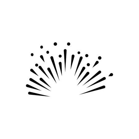 fire work icon Vector Illustration design Logo template Stock Vector - 129707276