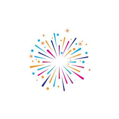 fire work icon Vector Illustration design Logo template