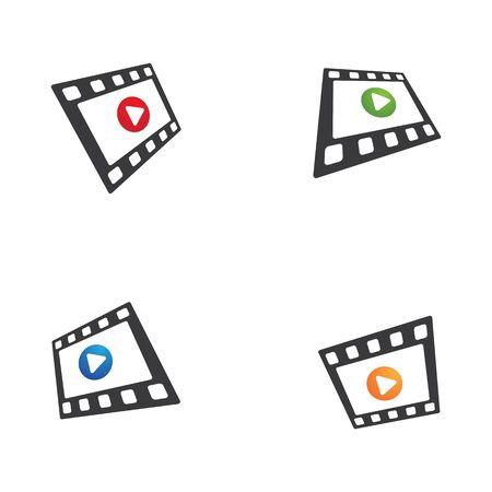 abstract film icon vector illustration template design Archivio Fotografico - 129707402