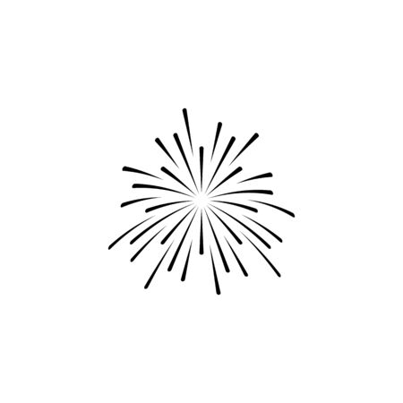 fire work icon Vector Illustration design Logo template Stock Vector - 129707474