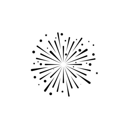 fire work icon Vector Illustration design Logo template Stock Vector - 129707482