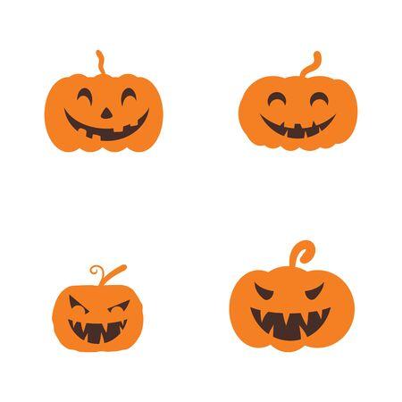 Jack olantern Happy Halloween icon vector illustration 向量圖像