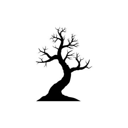 Tree Happy Halloween icon vector illustration