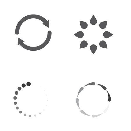 Loading vector icon illustration design template