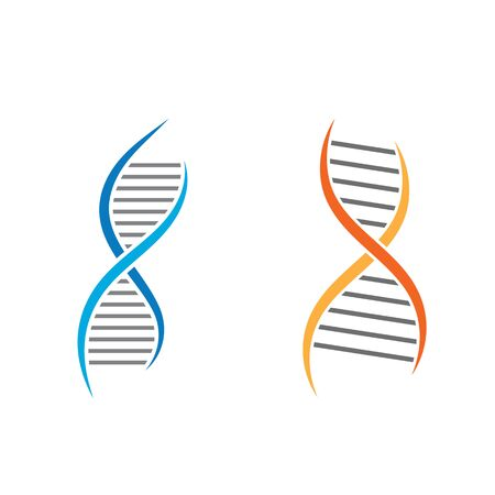 DNA vector icon illustration design template