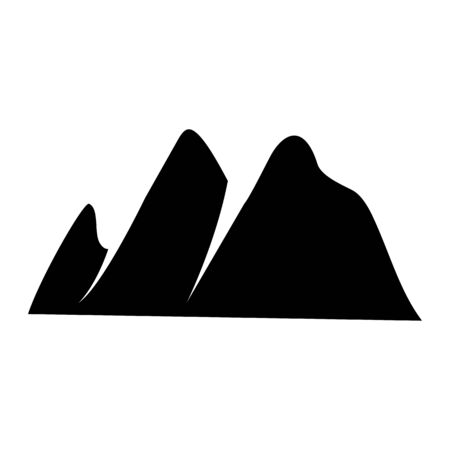 Mountain icon Logo Template Vector illustration design Illusztráció