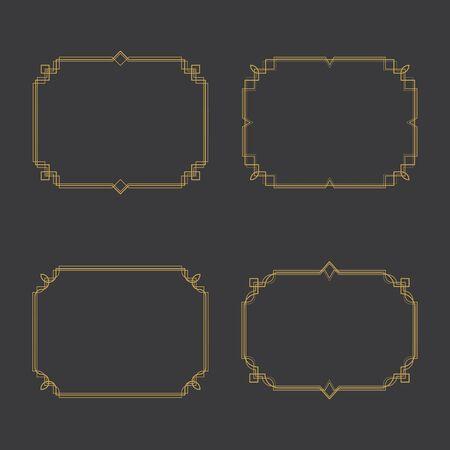Border vector illustration design template Standard-Bild - 130286307