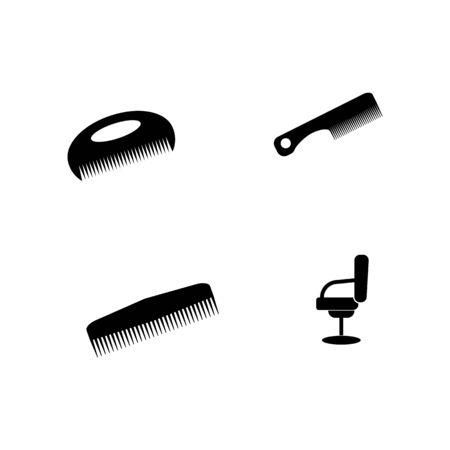 barber shop icon Vector Illustration design Logo template