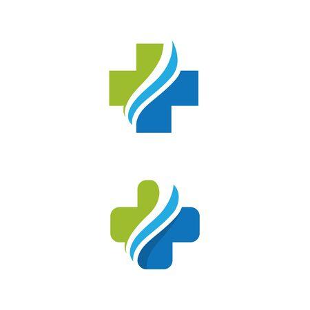 Health Medical Logo template vector illustration design Иллюстрация