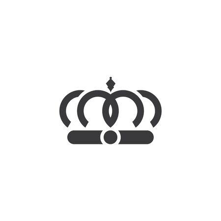 Crown Logo Template vector icon illustration design