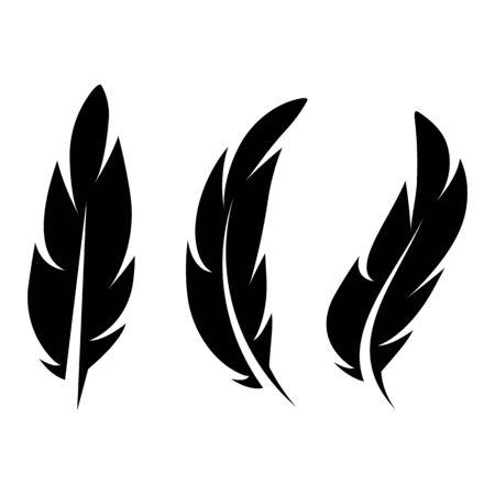 Icône de plume Conception d'illustration vectorielle Modèle de logo