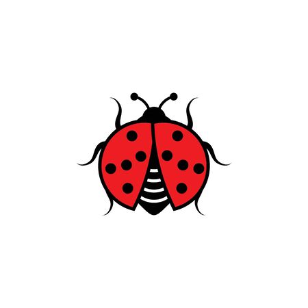 Beauty bug vector illustration icon design template