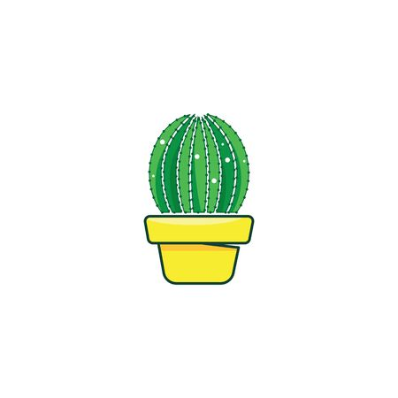 Cactus vector icon illustration  design template