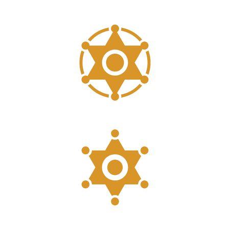 Star West vector icon illustration design template Illusztráció