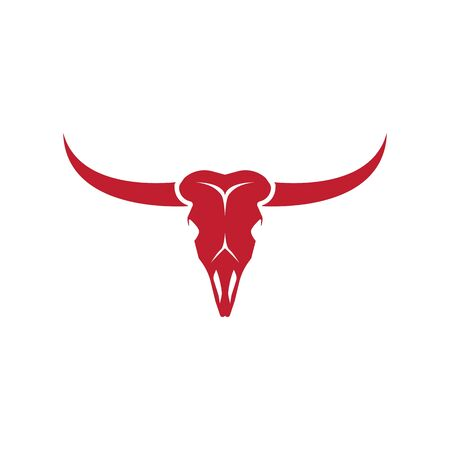 Bull Skull vector icon illustration design template