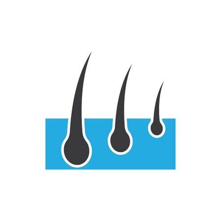 hair icon Vector Illustration design Logo template Çizim