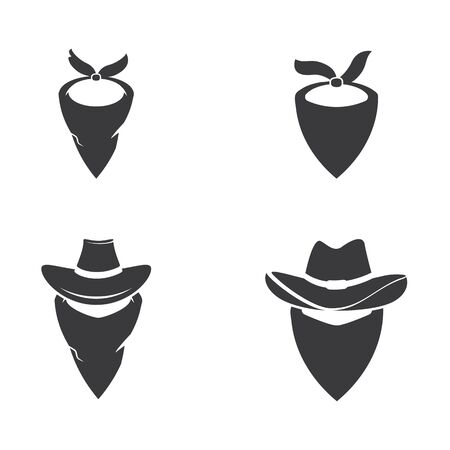 Mask West vector icon illustration design template